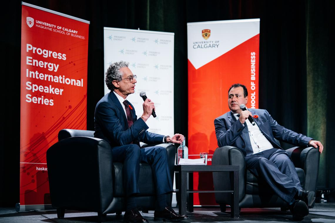 The Q&A session was moderated by Peter Tertzakian, executive director of ARC Energy Research Institute.