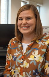 Graduate Program Administrator Lisa Llewellyn is graduating with a Master of Education degree