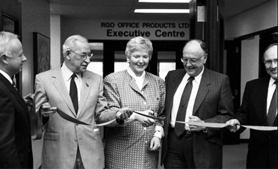 The official opening of the Scurfield Hall expansion, March 1991