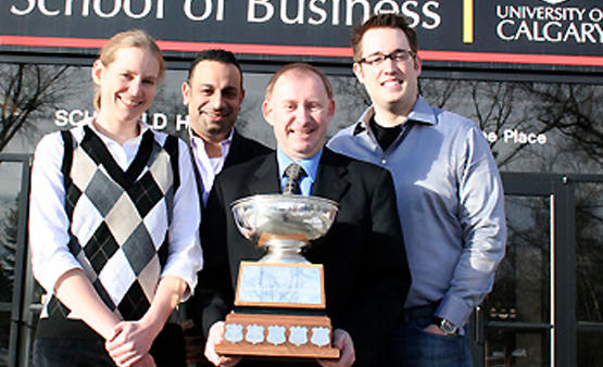 A team of five MBA students from the Haskayne School of Business won the prestigious John Molson International MBA Case CompetitionCompetition, January 2010.